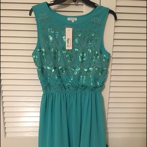 NWT Chiffon dress with sequins from Francesca's
